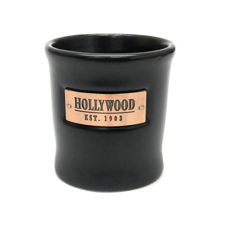 Black Shot Glasse With Gold Hollywood Est 1903 Shot Glass
