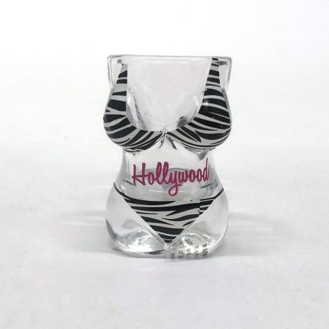 Hollywood Zebra Bikini Shot Glass