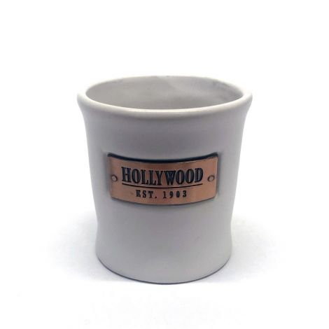 White Shooter With Gold Sign Hollywood Est 1903 Shot Glass