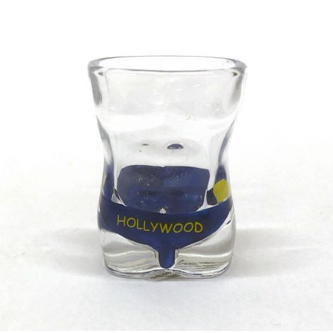 Shot Glass of Hollywood Men's Bottom Shorts Blue With Smiley