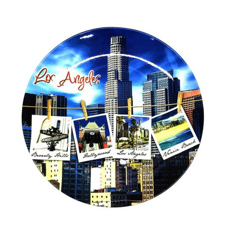 Los Angeles Polaroid Decorative Plate