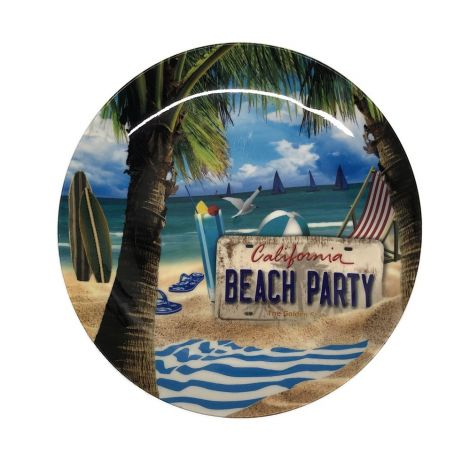 California Beach Party Plate
