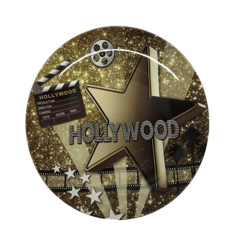 Hollywood Movie Star Gold Decorative Plate