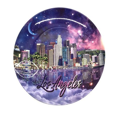 Los Angeles City at Night Decorative Plate
