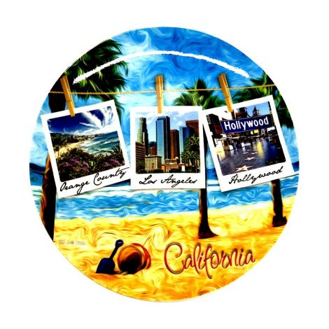 California Polaroid Decorative Plate