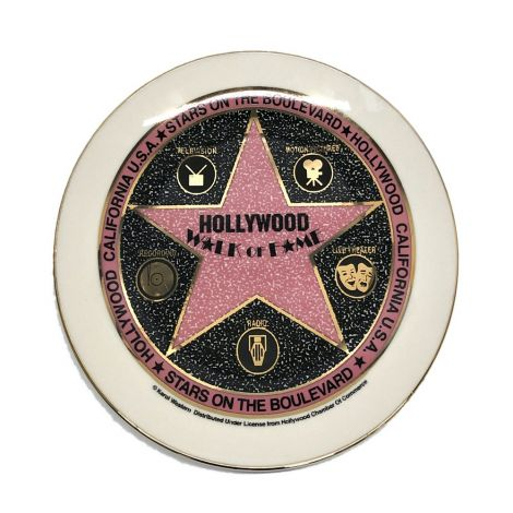 White Walk Of Fame Decorative Plate