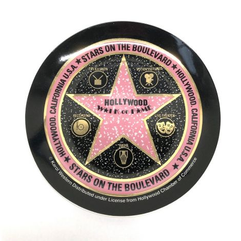 Black Walk Of Fame Decorative Plate