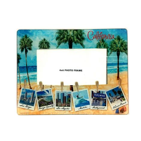 California Polaroid Glass Frame
