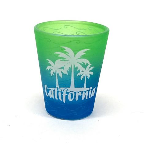 Frosted California Trees Shot Glass