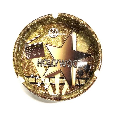 All Gold Hollywood Ashtray