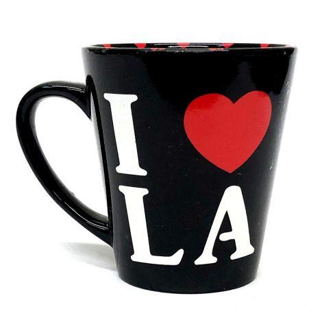 I Love La Black Mug