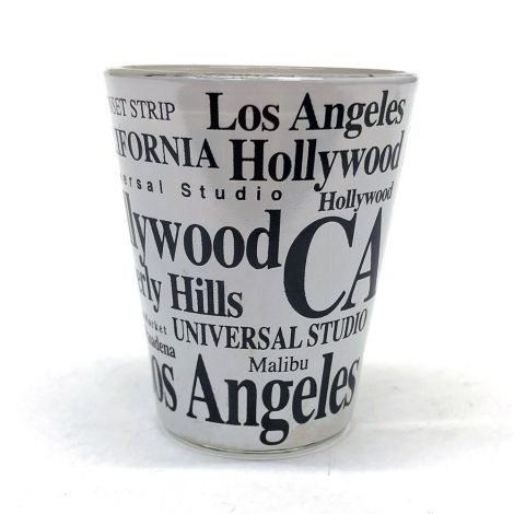 White Los Angeles Shot Glass