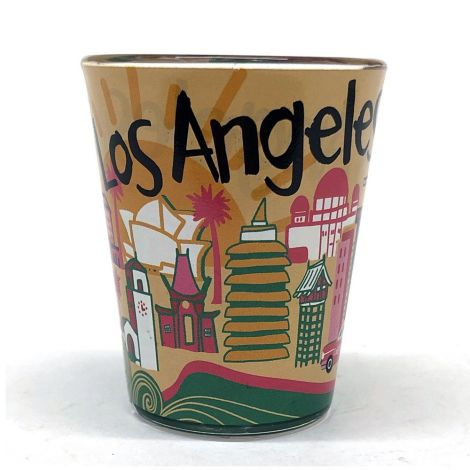 Hand drawing of Los Angeles Shot Glass