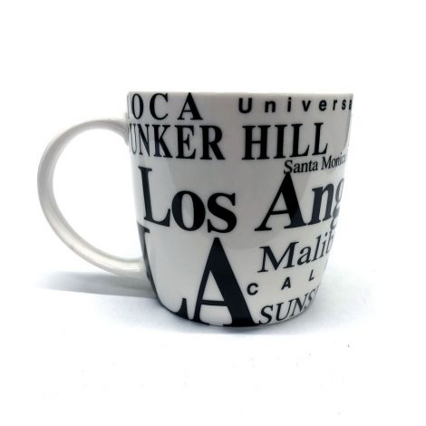 White Los Angeles Coffee Mug