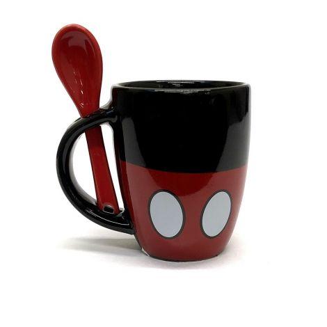 Disney Mickey Icon Red And Black Mug Espresso Mug With Spoon
