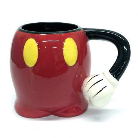 Disney Mickey Sculpture, Big Mug, Black And Red Mickey