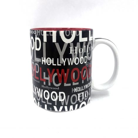 Hollywood black white and Red Coffee Mug