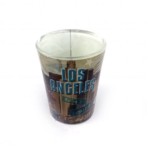Los Angeles, Hollywood  shot glass with famous LA spots