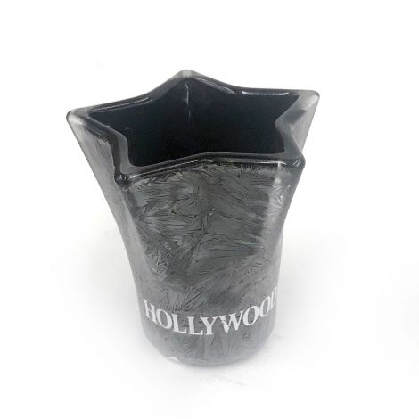 Hollywood Black star shape shot glass