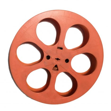 Used Hollywood Orange Plastic Reel ( limited quantities )