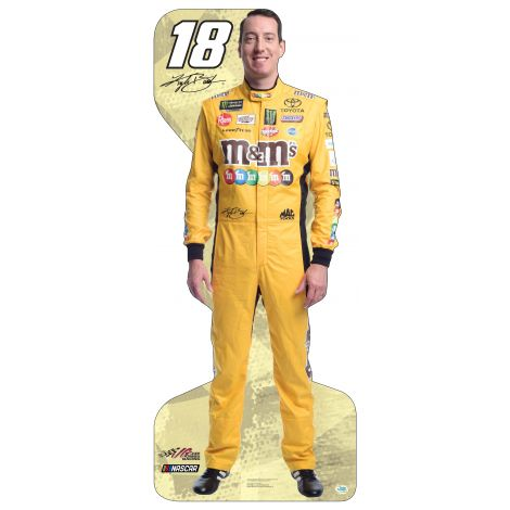 Kyle Busch  in an Orange M&M's suit
