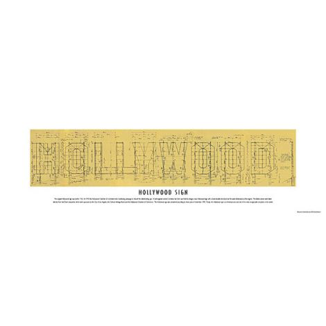 Hollywood Sign Limited Edition Blueprint