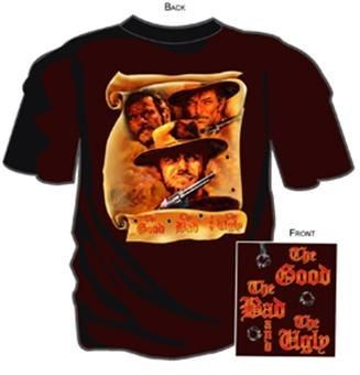 T-shirt homme The good the bad and the ugly G0744 1966,100/% coton Film